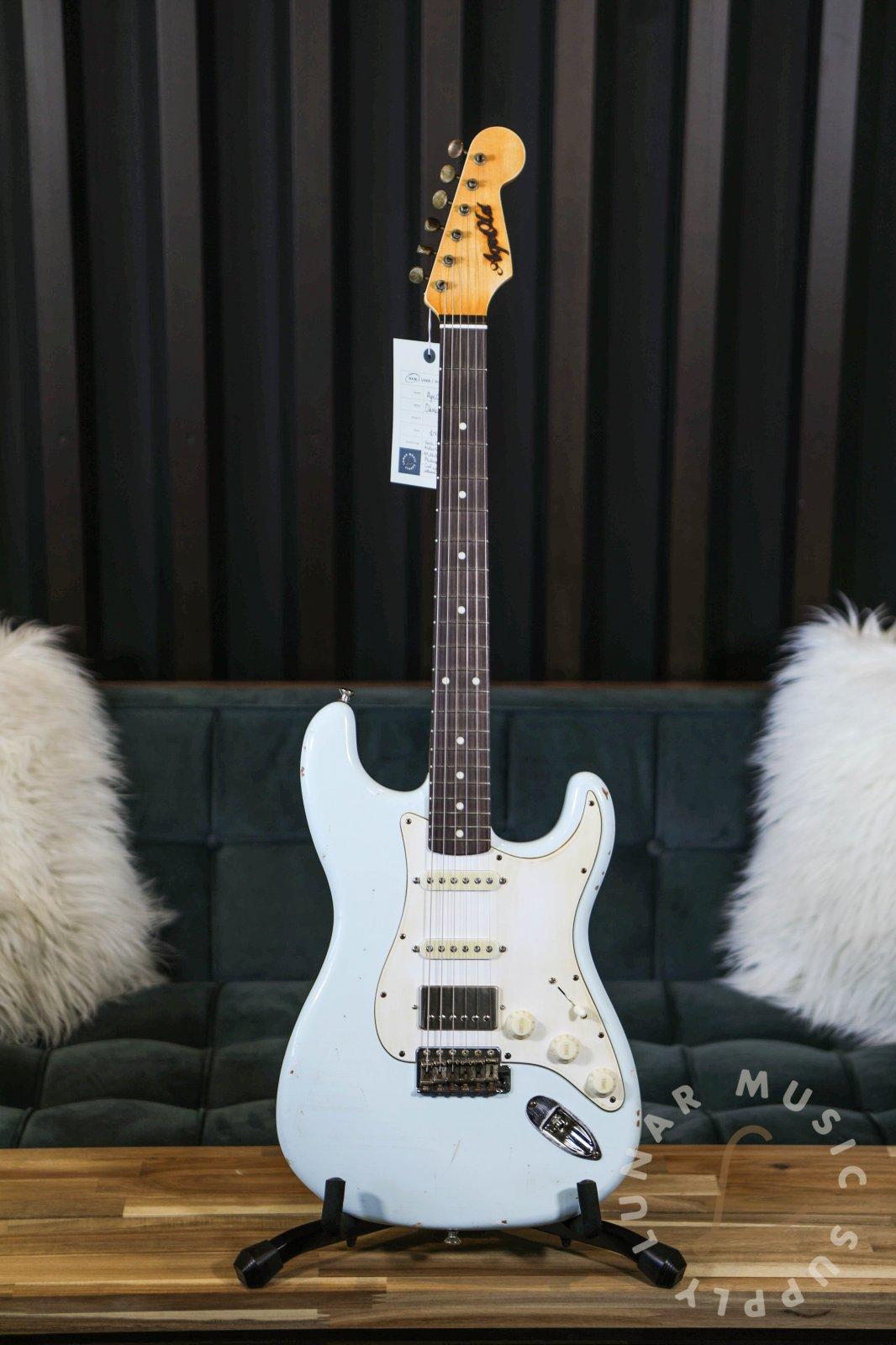 AgeOld Guitars Classic HSS Custom Electric Guitar - Sonic Blue