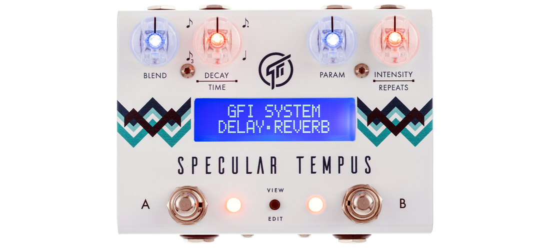 GFI System Specular Tempus Reverb and Delay Guitar Pedal