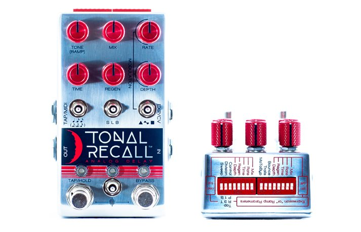 Chase Bliss Audio Tonal Recall Analog Red Knob Mod Delay Pedal
