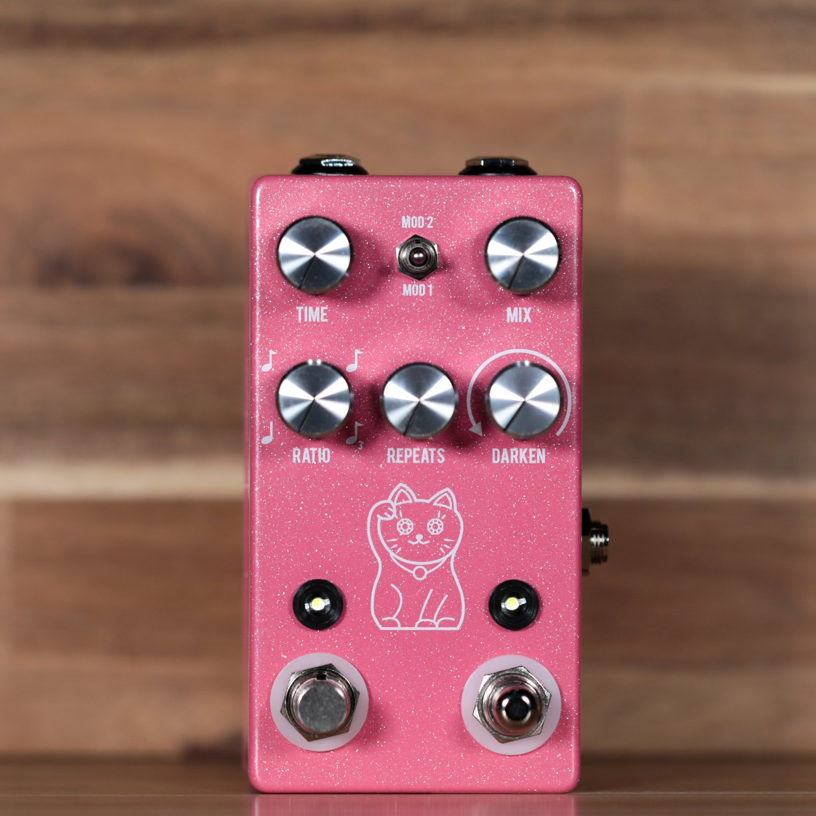 JHS Lucky Cat Delay Guitar Pedal - Pink