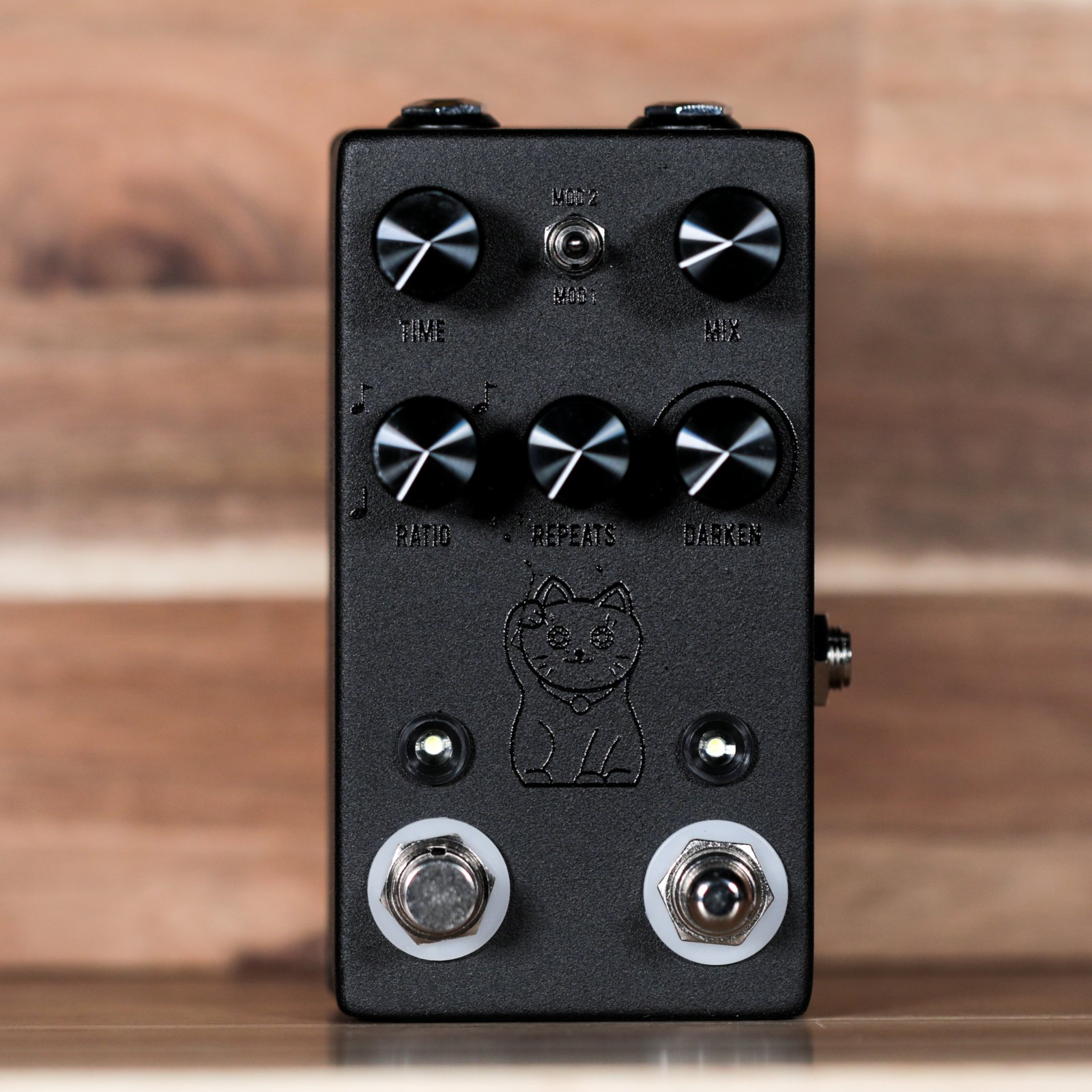JHS Lucky Cat Delay Guitar Pedal - Black Out