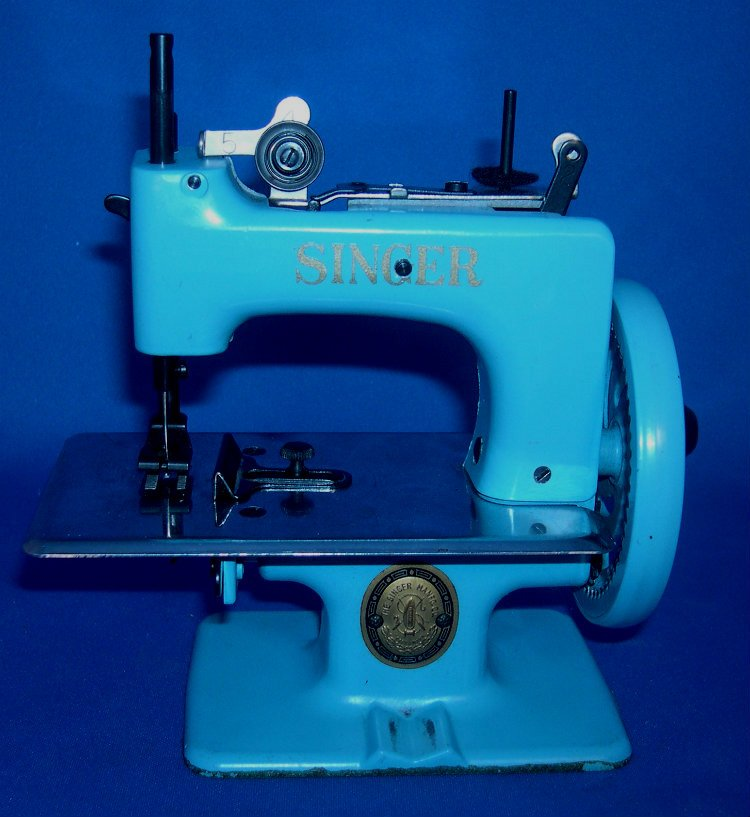 Blue Singer Toy Sewing Machine 20-10 Made from 1954 - 1957