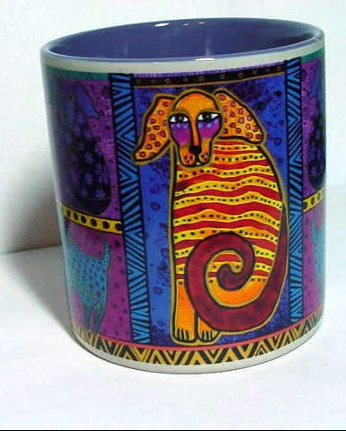 Laurel Burch Coffee Mug - Dog Tails Patchwork