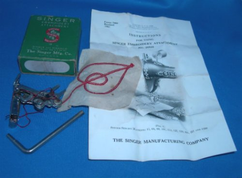 Original Singer 221 Embroidery Attachment #26538