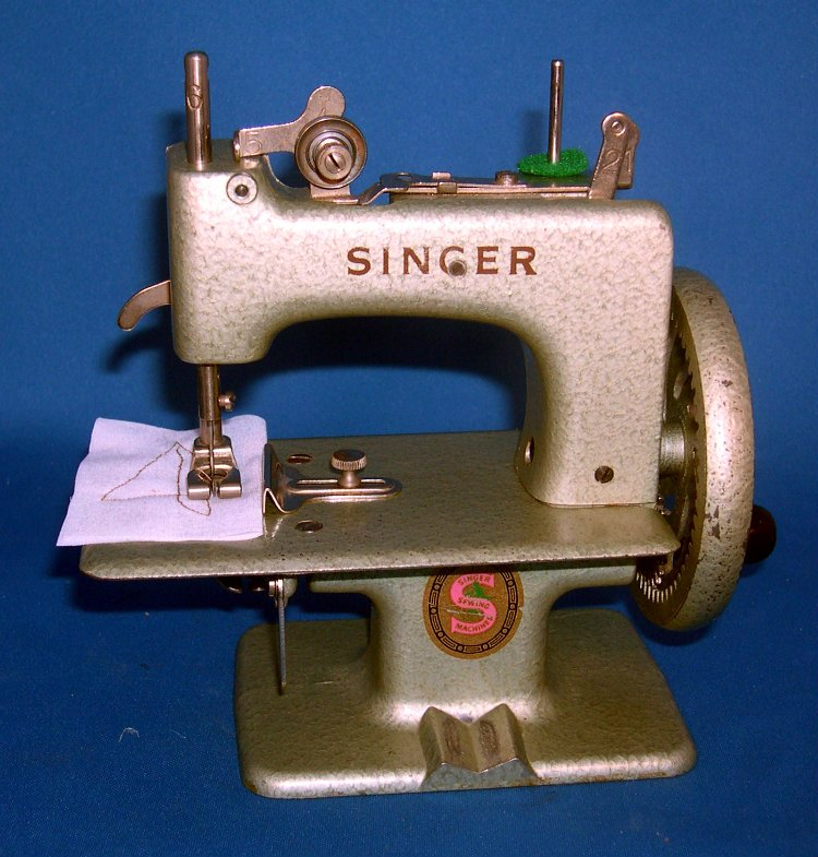 Metallic Green Singer Toy Sewing Machine Model 20-10 Made in 1957