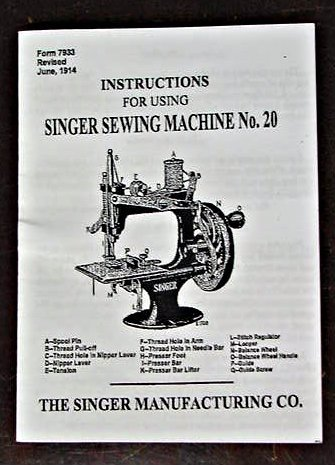 Singer Toy Model 20 (8 Spoke-Oval Base) Instructions