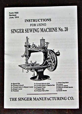 Singer Toy Model 20 (8 Spoke-Oval Base) Instructions