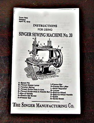 Singer Toy Model 20 (4 Spokes-Oval Base) Instructions