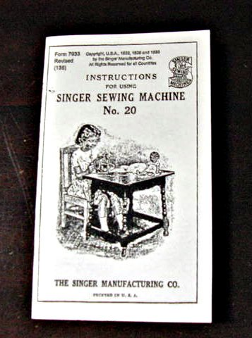 Singer Toy Model 20 (7 Spokes-Oval Base) Instructions