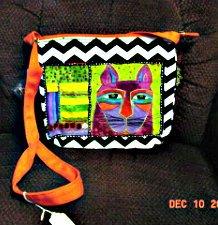 Laurel Burch Crossbody Bag - Whiskered Cats - 5320C
