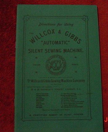 Willcox & Gibbs Manual