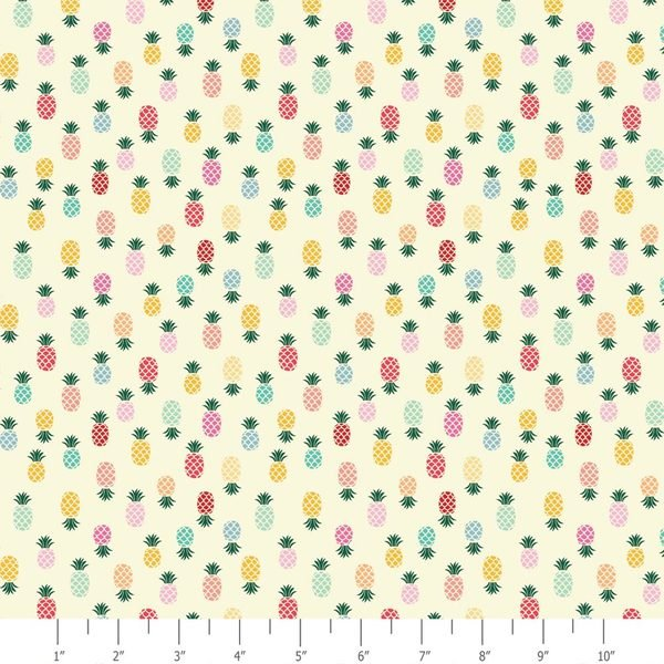 ADORNit Flamingo Fever Pineapple Turnover Color Cotton Fabric