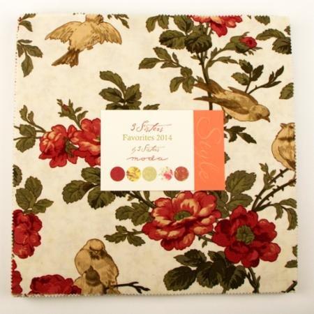 Moda Floral 3 Sisters Fav 2014 10 Layer Cake 42 pc.