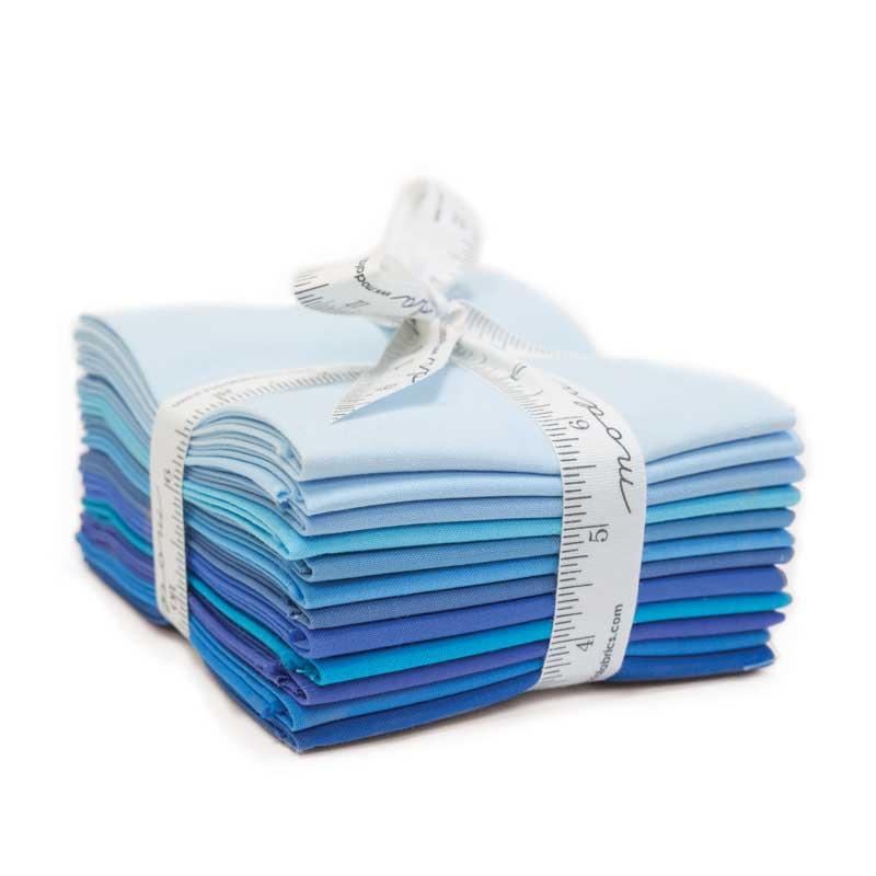 Moda Bella Solids Colors Blue Fat Quarter Bundle