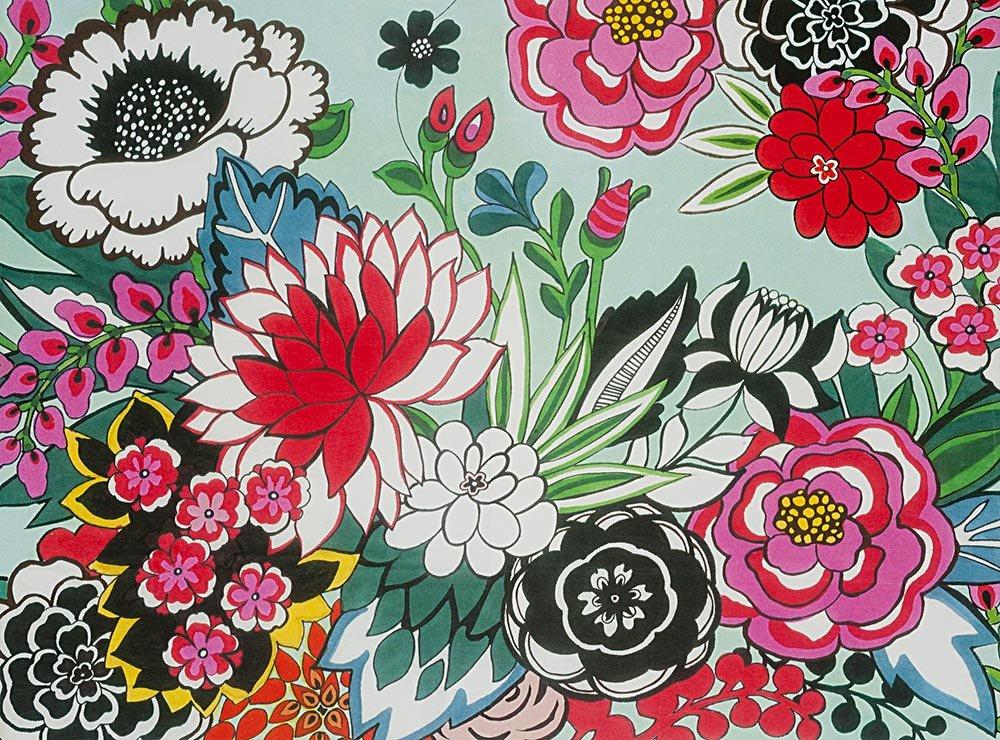 Alexander Henry Frida Kahlo Garden at Coyoacan Aqua Brite Cotton Fabric