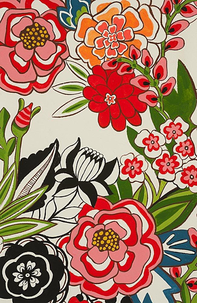 Alexander Henry Frida Kahlo Garden at Coyoacan Natural Brite Cotton Fabric
