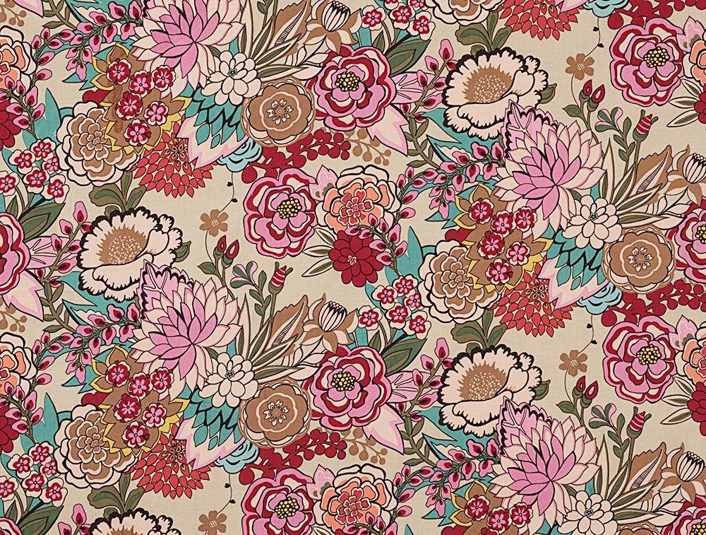 Alexander Henry Frida Kahlo Garden at Coyoacan Tea Dye Cotton Fabric