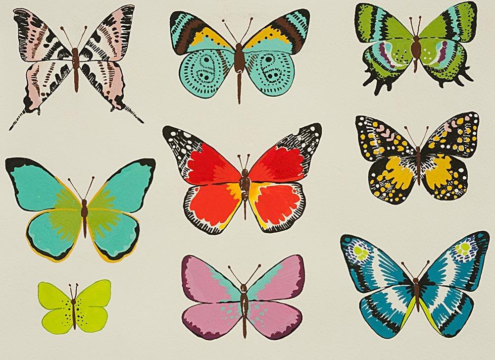 Alexander Henry Frida Kahlo El Tiempo de Mariposa Butterfly Natural Brite Cotton Fabric