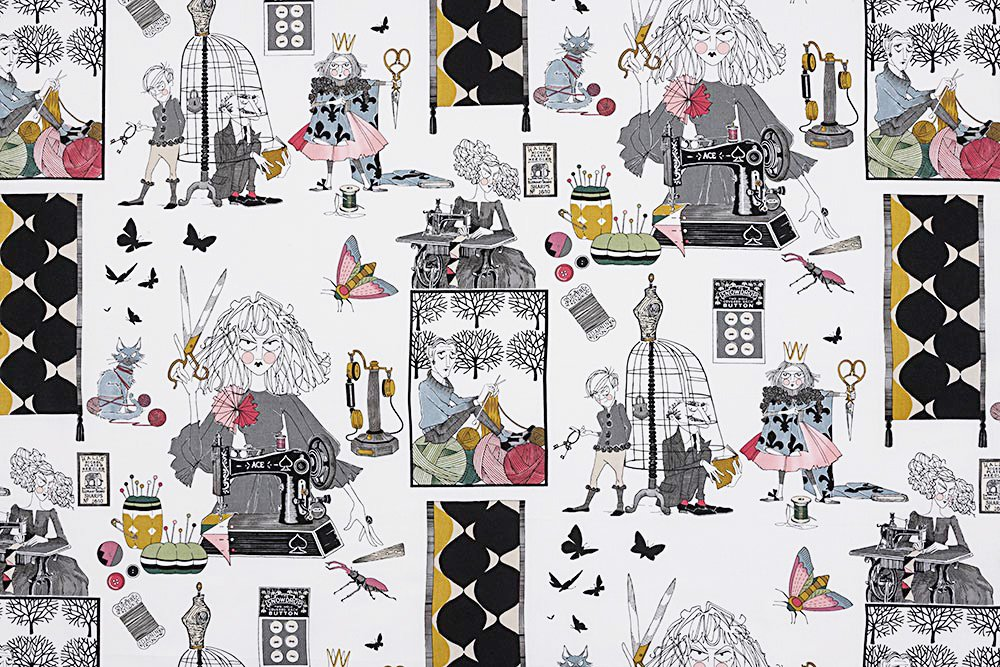 Alexander Henry A Ghastlie Craft Ghastly Color Natural Cotton Fabric