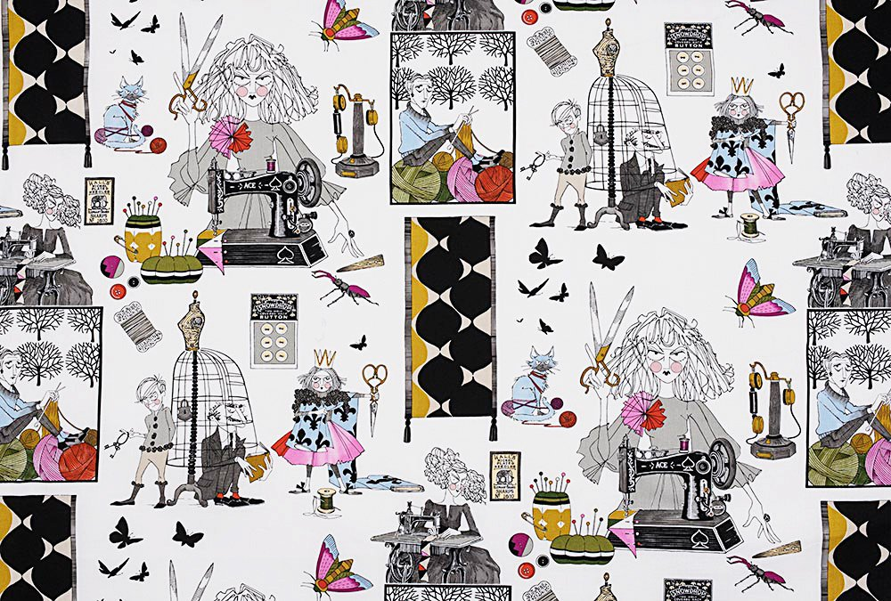 Alexander Henry A Ghastlie Craft Ghastly Color Snapdragon Cotton Fabric