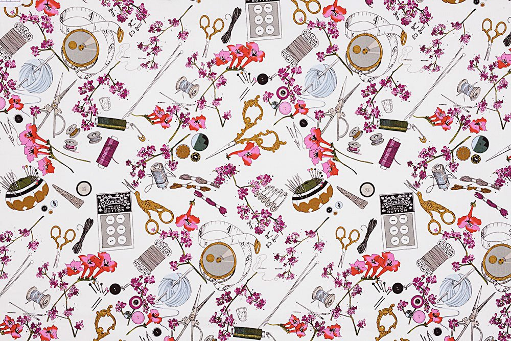 Alexander Henry A Ghastlie Notion Ghastly Color Snapdragon Cotton Fabric
