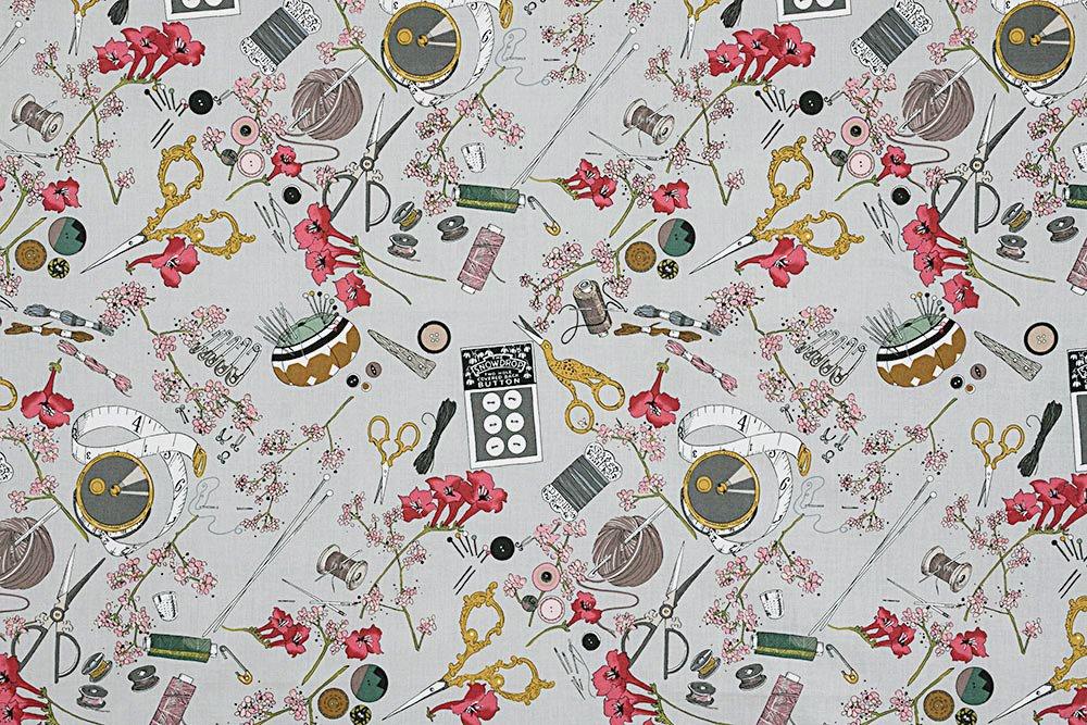 Alexander Henry A Ghastlie Notion Ghastly Color Grey Cotton Fabric