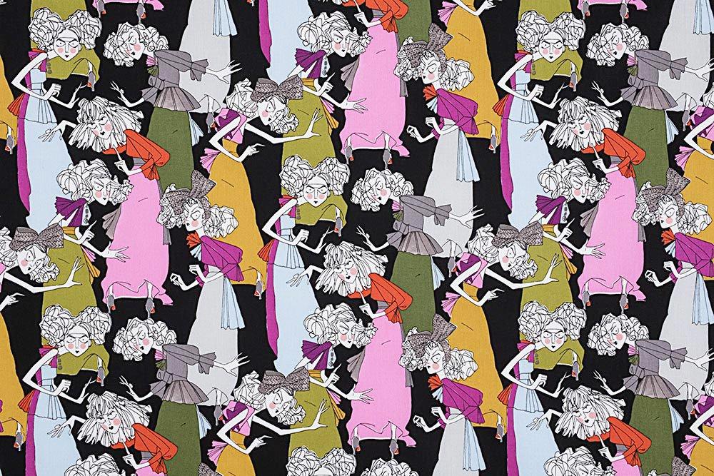 Alexander Henry A Ghastlie Casting Ghastly Color Snapdragon Cotton Fabric