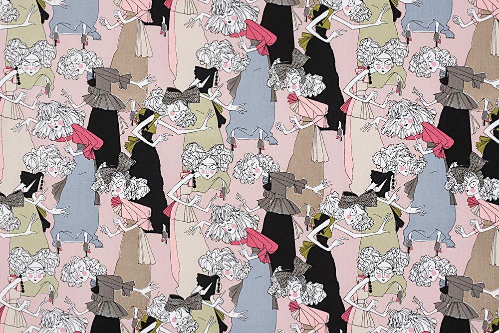 Alexander Henry A Ghastlie Casting Ghastly Color Deadly Mauve Cotton Fabric