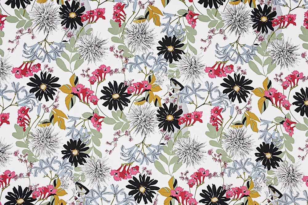 Alexander Henry A Ghastlie Snip Ghastly Color Snapdragon Cotton Fabric