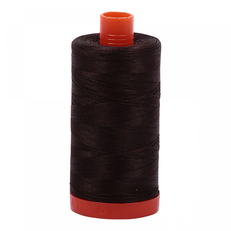 Aurifil Cotton Mako Thread 50wt 1300m 1130 Very Dark Bark