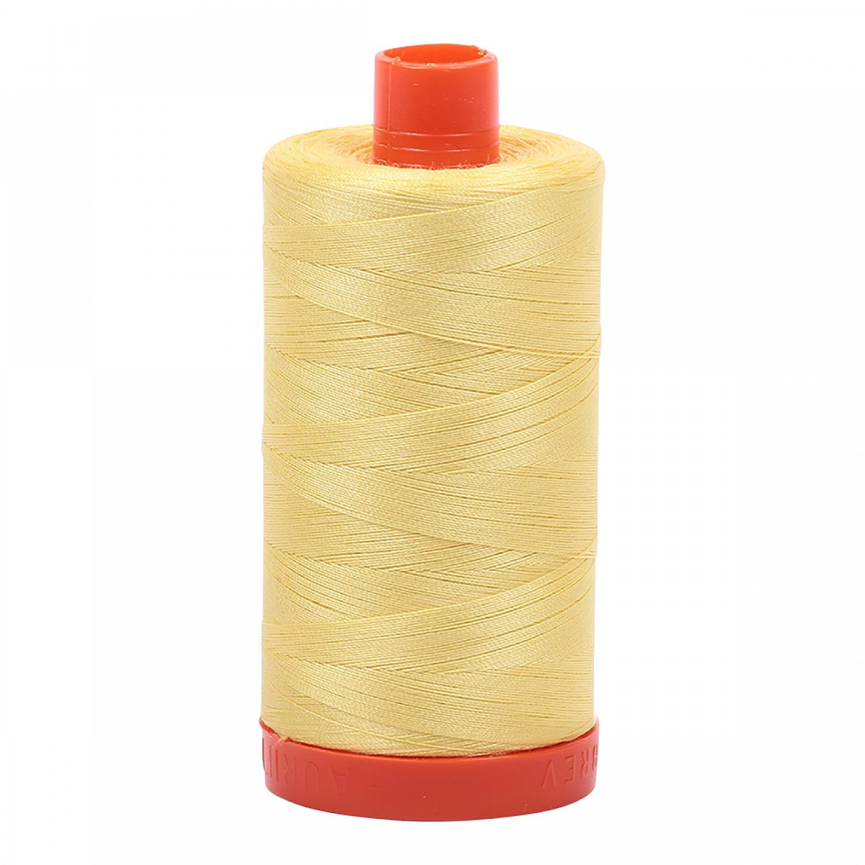 Aurifil Cotton Mako Thread 50wt 1300m 2115  Yellow
