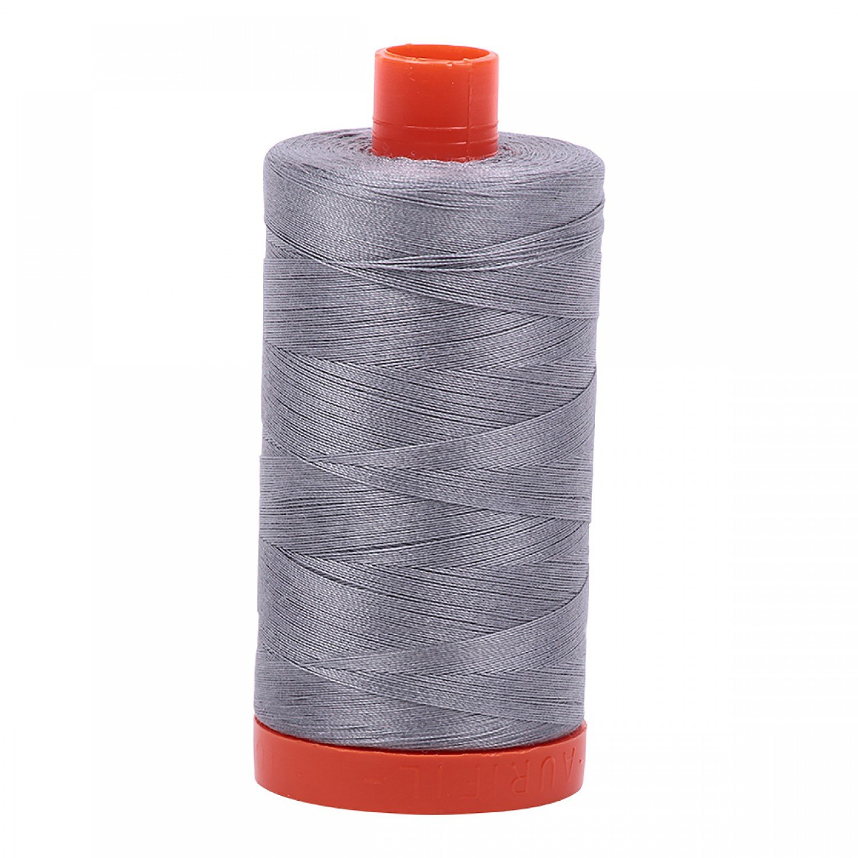 Aurifil Mako Cotton Thread Solid 50wt 1422yds 2605 Grey