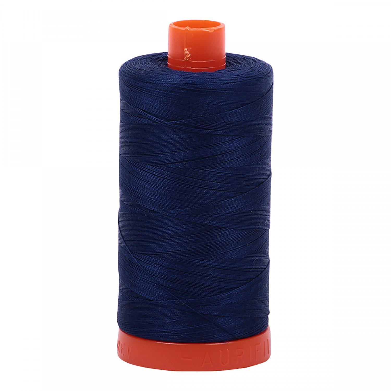 Aurifil Mako Cotton Thread Solid 50wt 1422yds 2784 Dark Navy