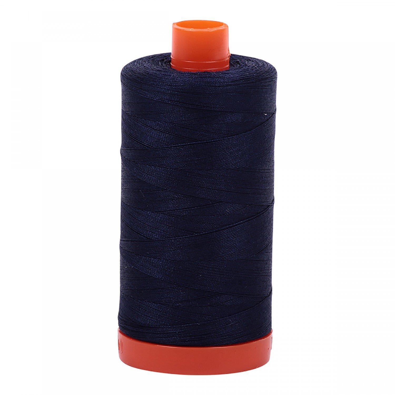 Aurifil Mako Cotton Thread Solid 50wt 1422yds 2785  Very Dark Navy