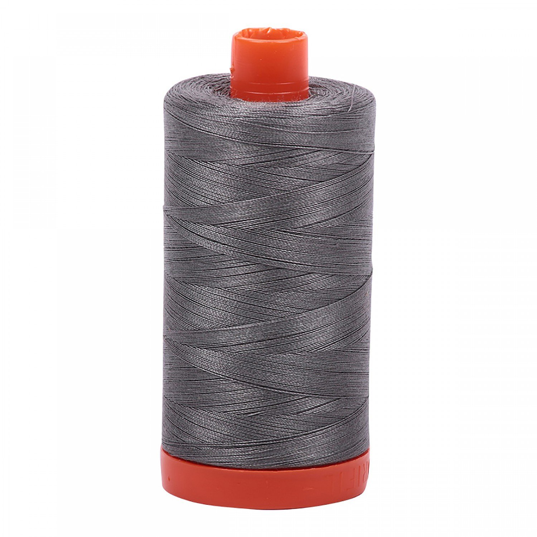 Aurifil Mako Cotton Thread Solid 50wt 1422yds 5004 Grey Smoke