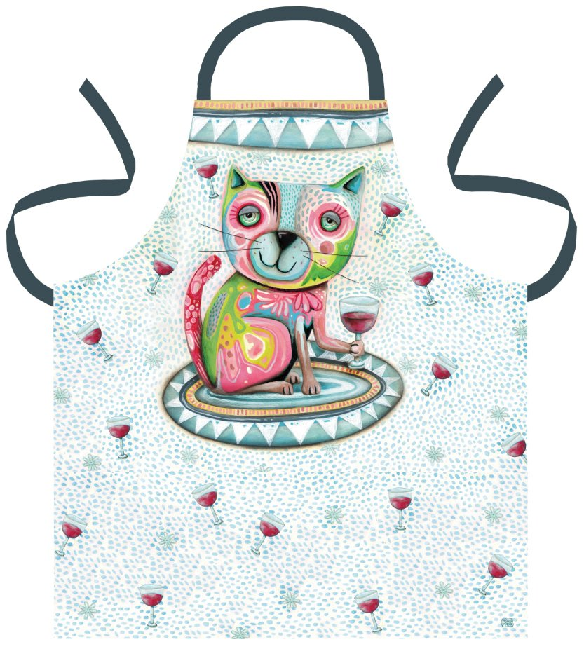 Allen Design Cat Wine Apron