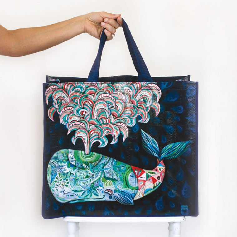 Allen Designs Whale Shopper Bag