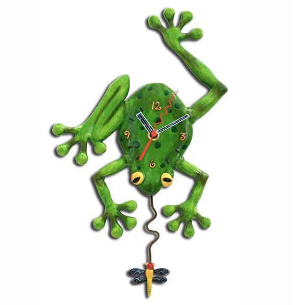 Allen designs Frog Catching Fly Pendulum Clock