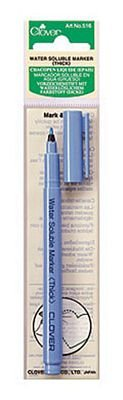 Clover Water Soluble Blue Marker Thick Point