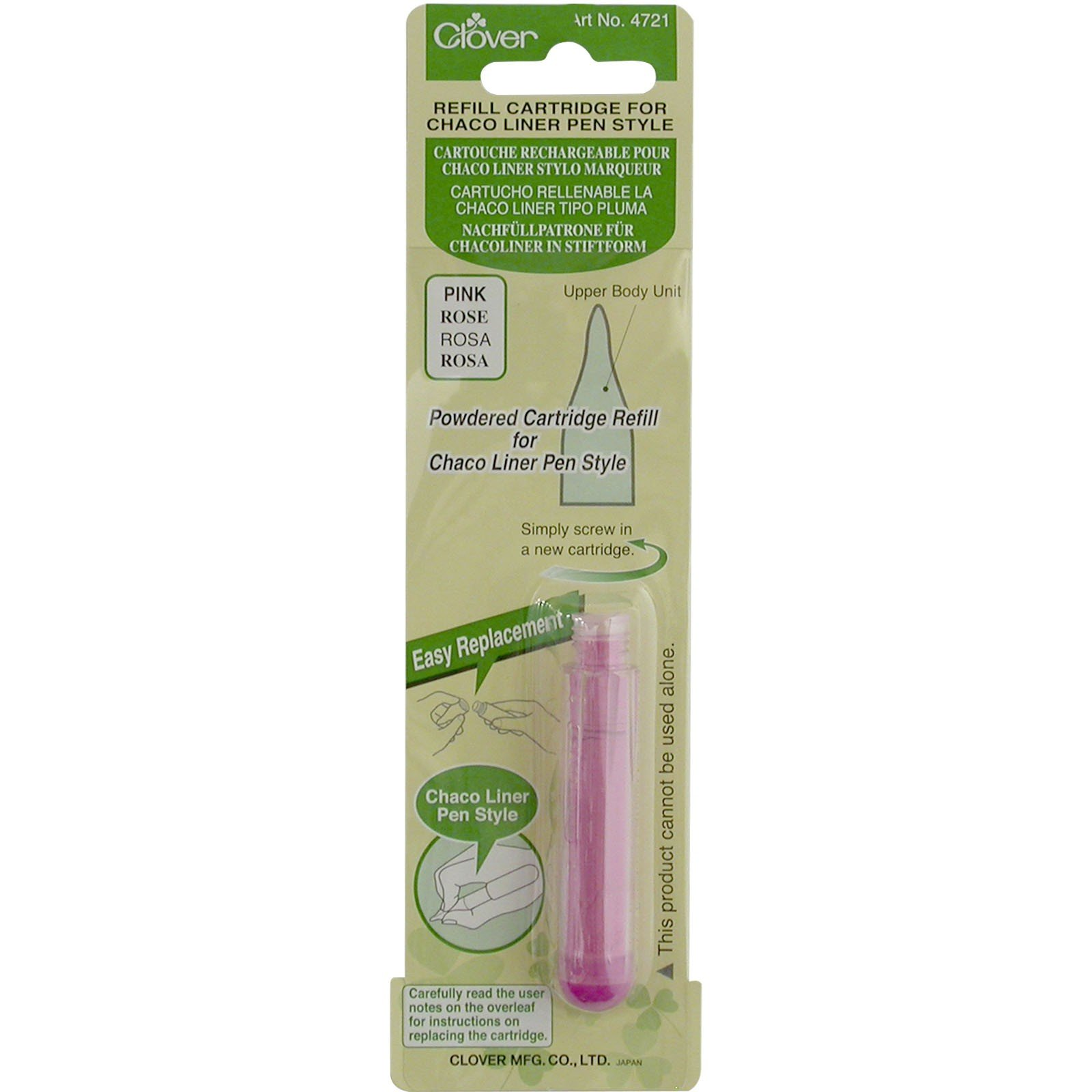 Clover Chaco Liner Pen Chalk Refill Pink