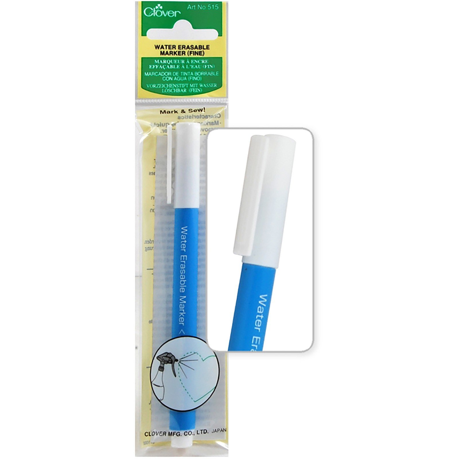 Clover Water Soluble Marker Blue Fine Tip