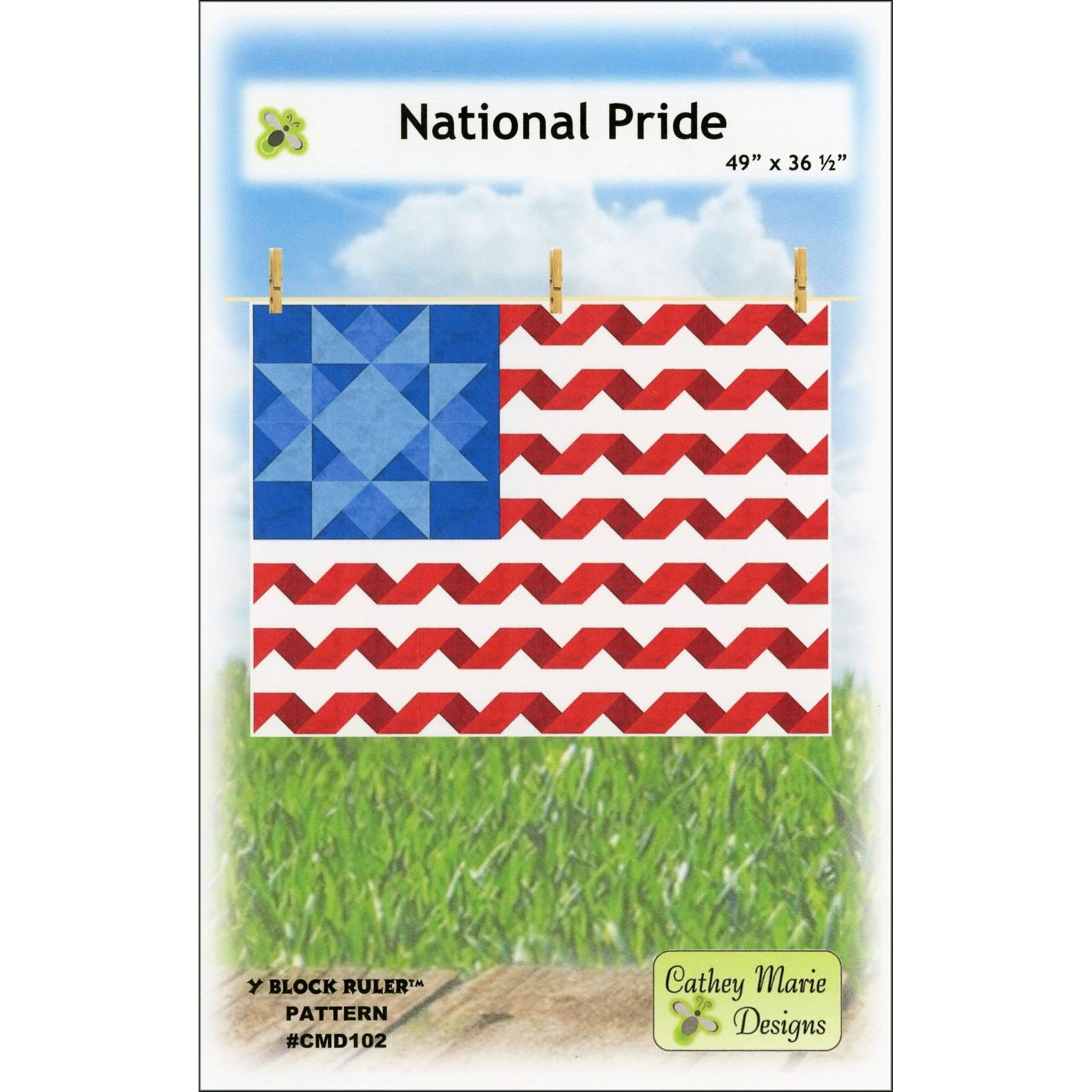 National Pride Y Block Ruler Quilt Pattern