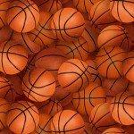 Elizabeth's Studio Sports Collection Basketballs Cotton Fabric