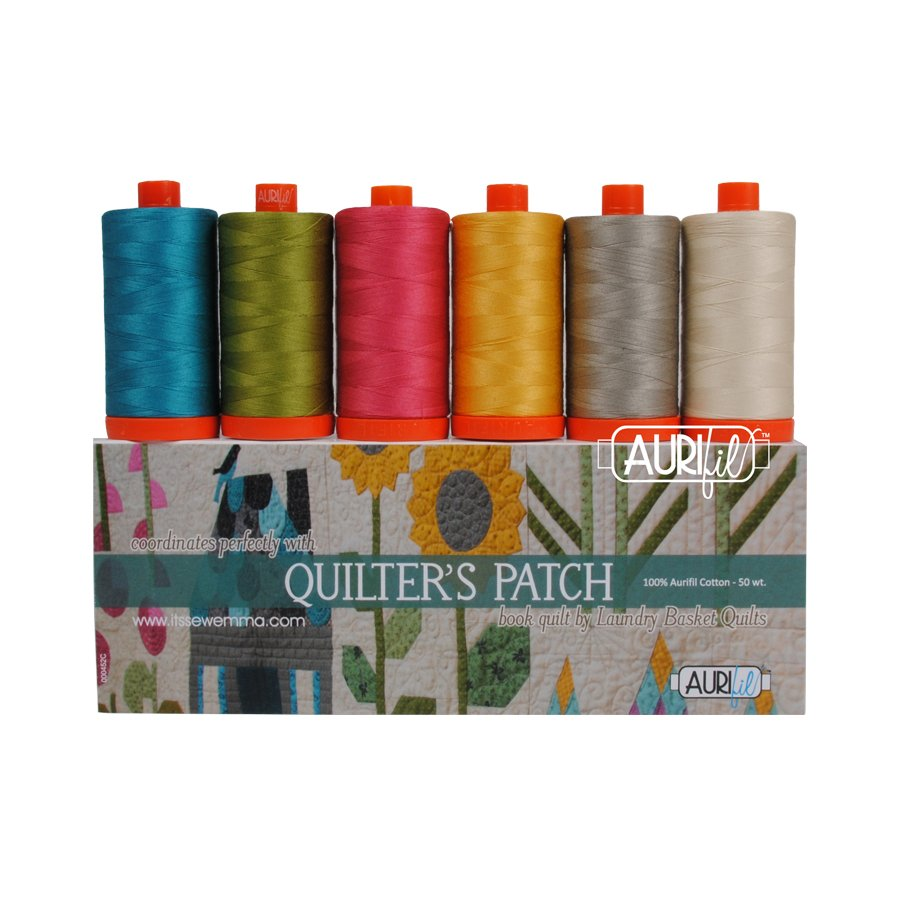 Aurifil Quilters Patch Collection By Edyta Sitar 6 Lg. Spools