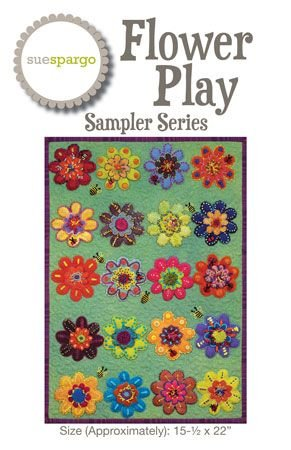 Sue Spargo Sampler Series Pattern Flower Play With Acrylic Template