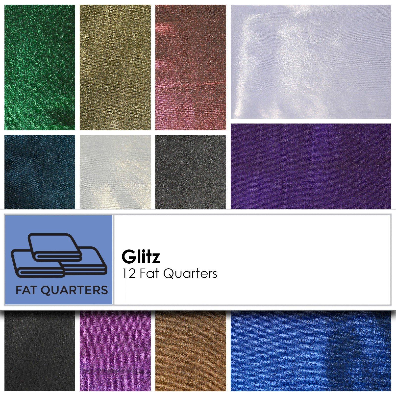 Maywood Studio Glitz Cotton Foil Faced Fabric 12 Piece FQ Bundle