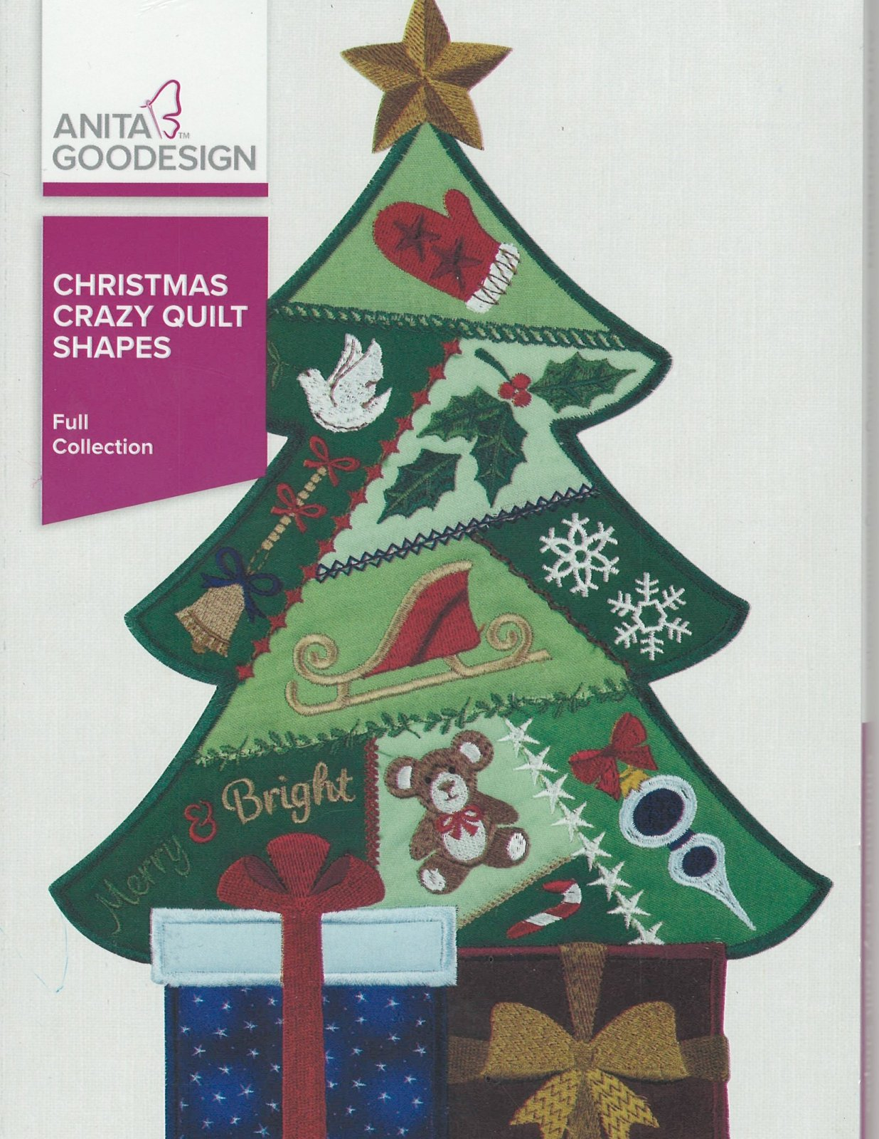 Anita Goodesign Machine Embroidery designs Christmas Crazy Quilt Shapes Full Collection CD