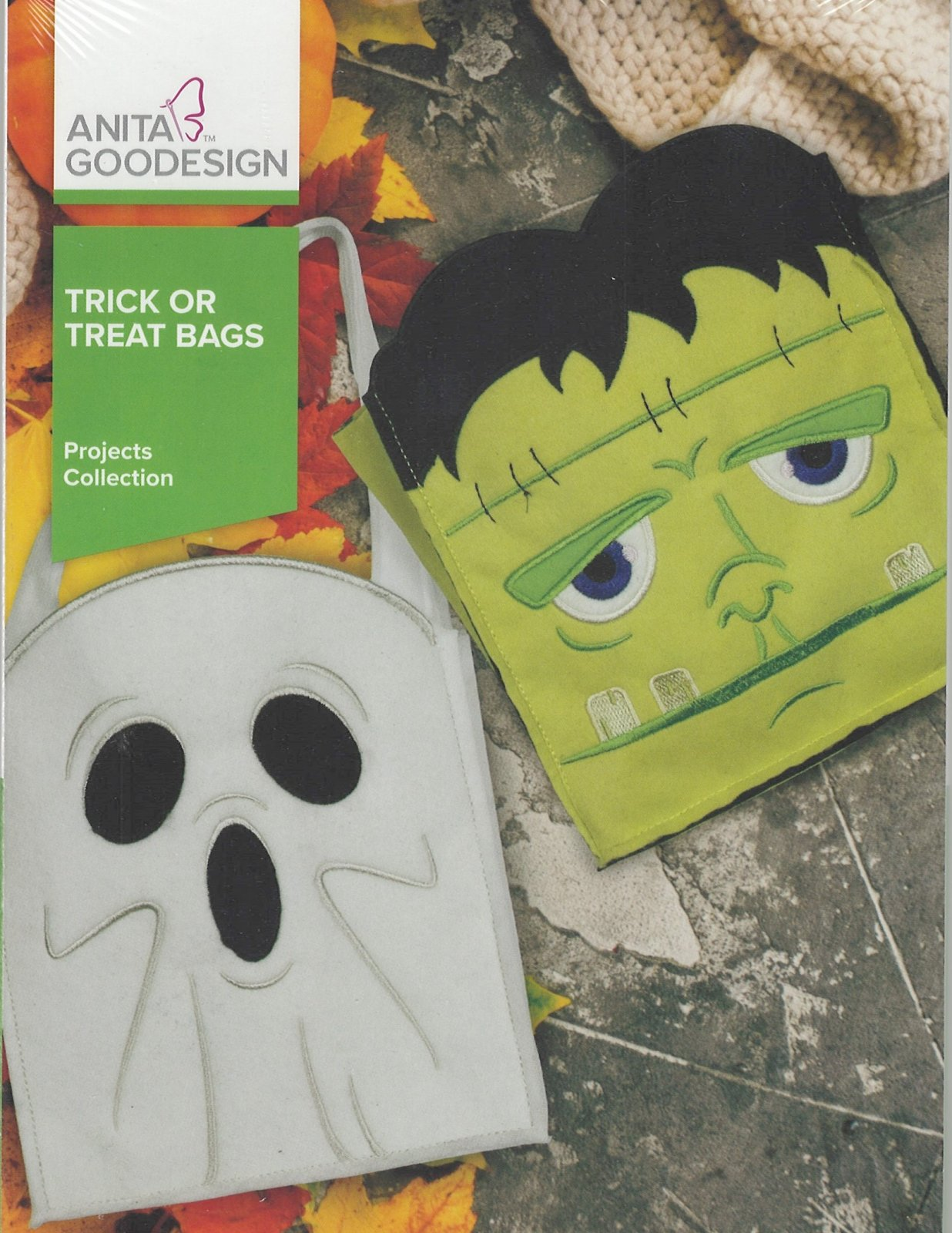 Anita Goodesign Machine Embroidery Designs Trick Or Treat Bags Full Collection CD