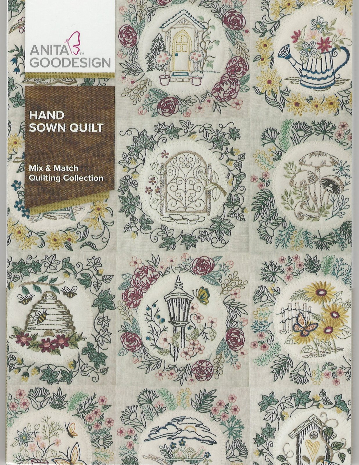 Anita Goodesign Machine Embroidery Designs Hand Sown Quilt Full Collection CD