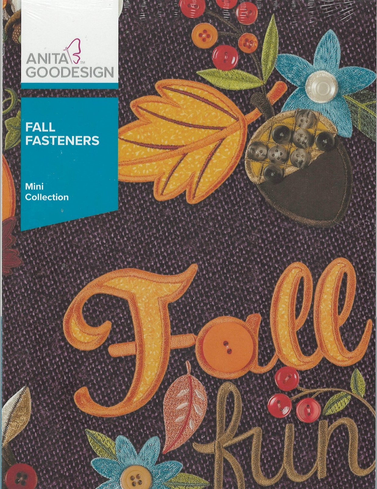 Anita Goodesign Machine Embroidery designs Fall Fasteners Full Collection CD